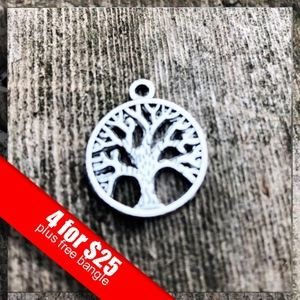 ❤️4 for $25❤️ Silver Tree of Life Charm NWOT